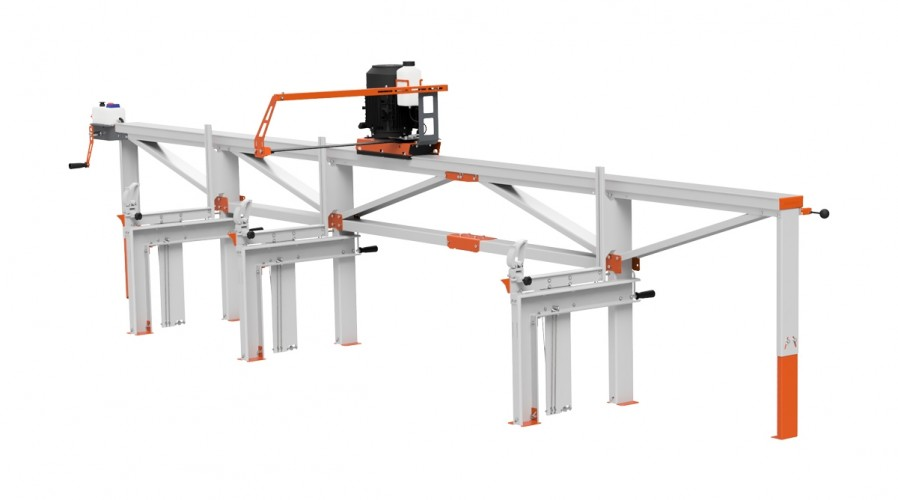 F2 Chain Sawmill (5 m) with ES5, manual remote feeding