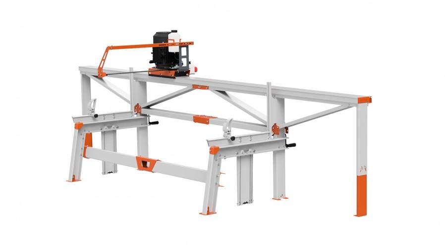 F2+ Chain Sawmill (4 m) with ES5, basic crank feeding