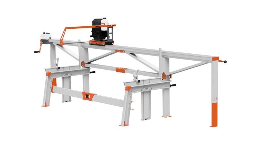 F2+ Chain Sawmill (4 m) with ES8, manual remote feeding