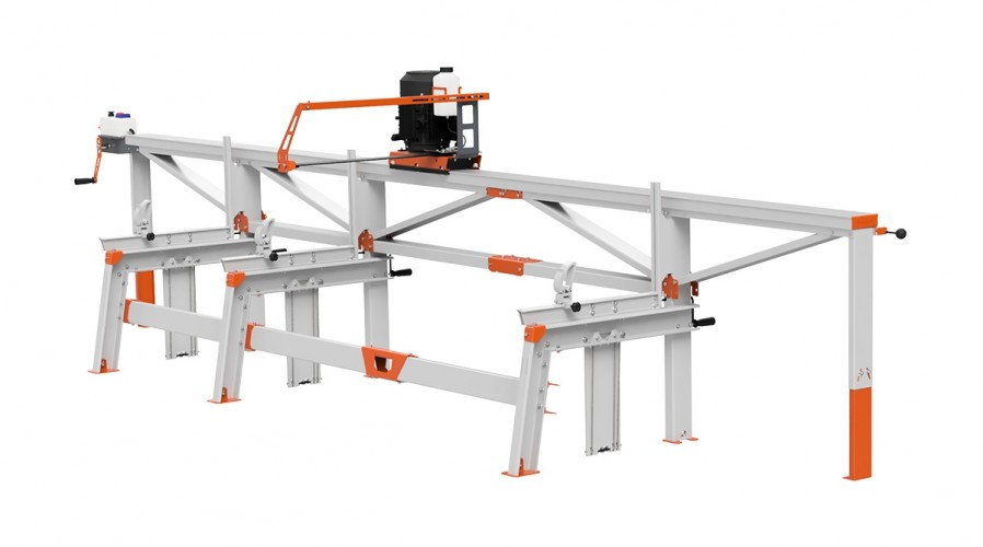F2+ Chain Sawmill (5 m) with ES5, manual remote feeding