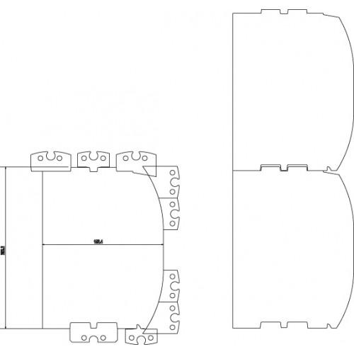 Palgifreesi terade komplekt D-palgile. 150-200mm, LM410, kiilud komplektis