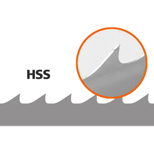 5 Lintsaelinti (HSS/Bimetal) saeraamile Logosol B1001, Pikkus: 4310 mm, Laius: 34 mm